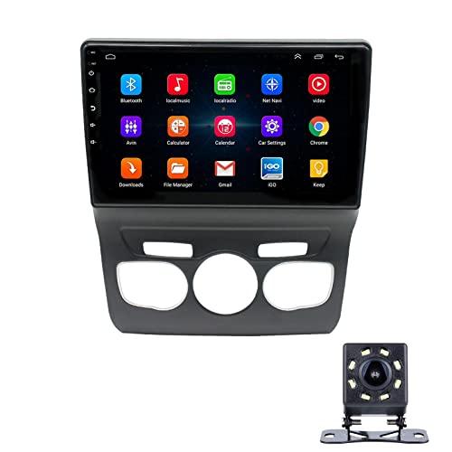 LWYJ Radio Coche para Citroen C4L 9 Pulgadas Conexión Android, Bluetooth Reproductor para Coche,con Mirrorlink, Pantalla Táctil, Radio FM/USB, con Camara Trasera,4+64G