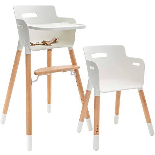 Check Out This WeeSprout Wooden High Chair for Babies & Toddlers | 3-in-1 High Chair/Booster/Chair |...
