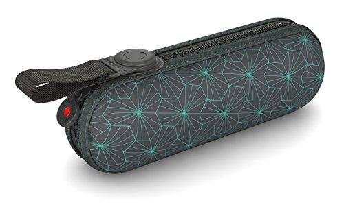 Knirps Taschenschirm X1 Design – Kleinster Regenschirm von Knirps – Leicht und kompakt –Sturmfest – Iron