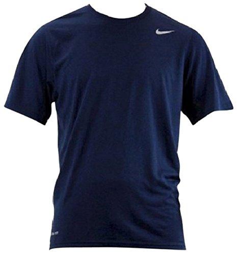 NIKE Mens Athletic Active Dri-Fit Tee Shirt, Navy, Large
