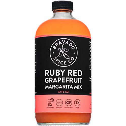 Ruby Red Grapefruit Mix By Bravado Spice Gluten Free, Vegan, Low Carb, Paleo Margarita Mix All Natural 32oz Bottle Award Winning Gourmet Margarita MiX