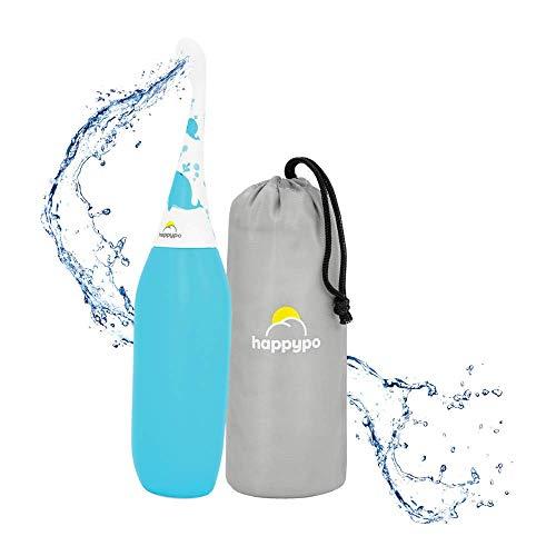 Das original HAPPYPO KIDS Bidet als popodusche, die Po Dusche ist leichter zu drücken mit Tiermotiven, die Intimdusche für sensible Kinder Haut, verhindert Reizungen als mobiles Bidet mit Reisebeutel