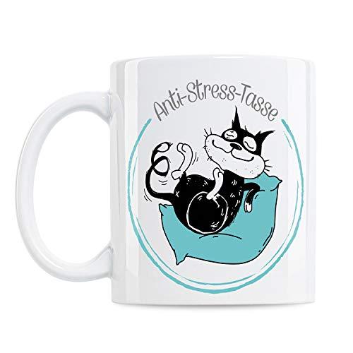 KenniKeller® Monty Tasse Mit Spruch, Anti-Stress-Tasse, Geschenk, Geschenkidee, Kaffee-Tasse, Coffee-Cup, Tassen mit Spruch, Lustig (Anti-Stress-Tasse)