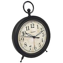 Westclox 0 Vintage Look Top Ring Decor Alarm Clock, Multicolored