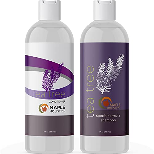 Tea Tree Shampoo and Conditioner Set - Sulfate Free Shampoo and Conditioner for Dry Damaged Hair and Scalp Care - Pure Tea Tree Oil Shampoo and Conditioner Set Dry Scalp Treatment for Women and Men