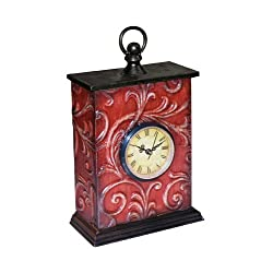 Sterling Home Embossed Vine Clock, 11-Inch Tall