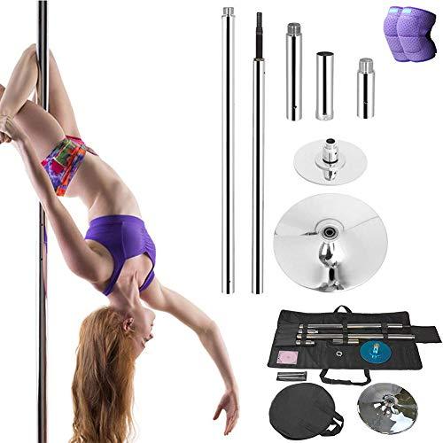 DSYYF Stripper Pole Dancing Pole Kit mit Tasche, professionell abnehmbarem Spinning und statischem Pole für Party Exercise Club Fitness,M
