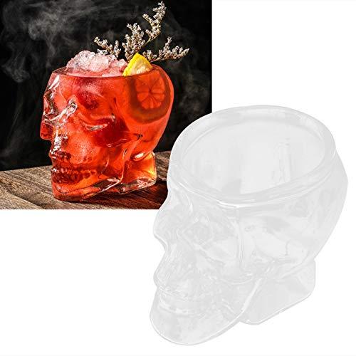 01 Taza de Cristal, mercancías de Cristal innovadoras de la Taza de cóctel de la Forma de la Cabeza del cráneo para la Barra