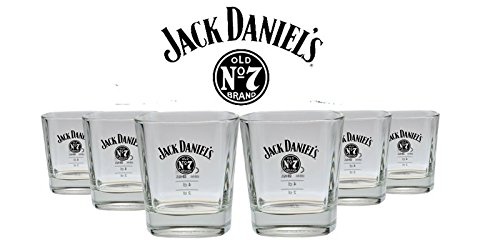 6er Pack Jack Daniels Whiskey Glas - Tumbler Nr. 3 - 10% Rabatt