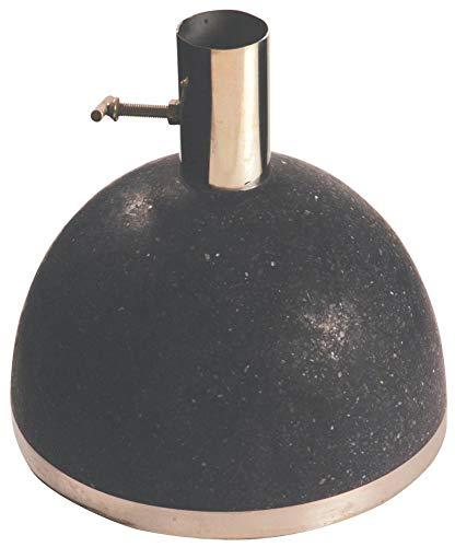 Esschert Design Sonnenschirmständer, Sonnenschirmfuß granito in schwarz, 11,5 kg, Ø Rohr innen: 3,5 cm, Fuß Ø ca. 25 cm