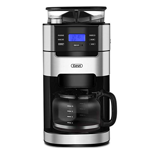 Gevi 10-Cup Grind and Brew Automatic Drip Coffee Maker