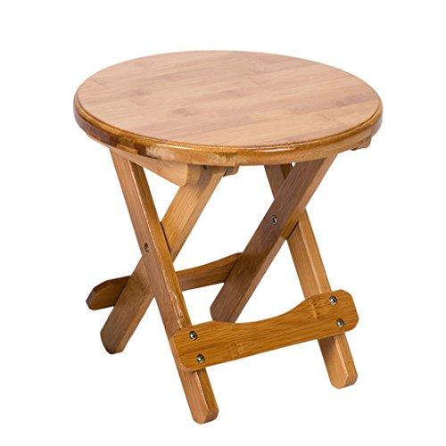 LSLS Taburete de ducha plegable de bambú taburete de baño de niño silla de baño, silla de ducha portátil al aire libre de pesca silla de ducha