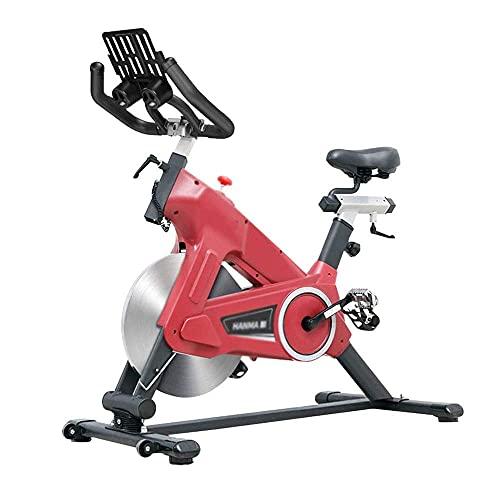 SAFGH Bicicleta de Ciclismo para Interiores, Bicicleta de Ejercicios para Interiores con transmisión por Correa, Bicicleta estática para Entrenamiento Cardiovascular en casa, Entrenamiento en Bici