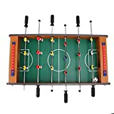 03 Maravilloso Regalo de futbolín, Juguetes de fútbol, niños portátiles de Factor de Forma pequeño para niños(Wood Color)