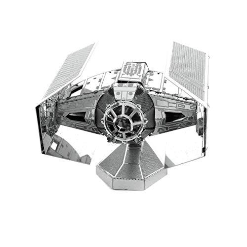 Fascinations MMS253 - Metal Earth 502664 - STAR WARS Darth Vader's TIE Fighter™, lasergeschnittener 3D-Konstruktionsbausatz, 2 Metallplatinen, ab 14 Jahren