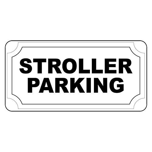 Kinderwagen Parkeren Zwart Retro Vintage Stijl Metalen bord Muurdecoratie voor Thuis Garage Yard Hek Oprit 8 x 12 Inch