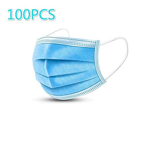 JiuzunCubierta contra el polvo60/100, bolsa sellada estándar, protección sanitaria, cubierta contra el polvo de tres capas con gancho para la oreja, 20 por bolsa