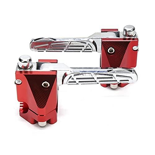 Pie Clavijas Reposapiés para Y-amaha BWS125 RC150 Pedal De Reposapiés Trasero Reposapiés De Pasajero RC 150 B&WS 125 S-Cooter Accesorios De Motocicleta Cromado Moto Estriberas (Color : F)