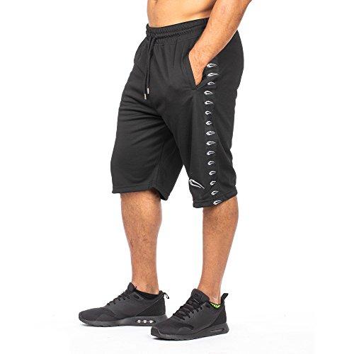 SMILODOX Herren Shorts 'Bandit'   Kurze Hosen für Sport Fitness Gym Training & Freizeit   Jogginghose - Freizeithose - Trainingshose - Sweatpants - Sporthose Kurz, Farbe:Schwarz, Größe:M