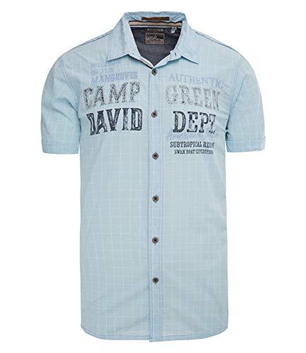 Camp David Herren Karohemd im Vintage Look mit Artwork