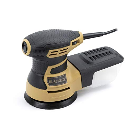 BLACKBOX BB-ROS1 5 Inch Random Orbit Sander, 6 Variable Speed Electric Sander, Sander Machine with Efficient Dust Collection System, Orbital Sanders for Woodworking Ideal for Home Improvement & DIY