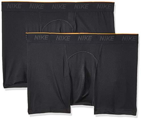 Nike Herren M NK Brief Trunk 2PK Boxer, Black, S