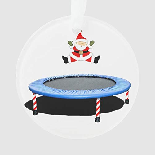 Personalized Trampoline Ornament Custom with Any Name and Date Porcelain Christmas Ornament