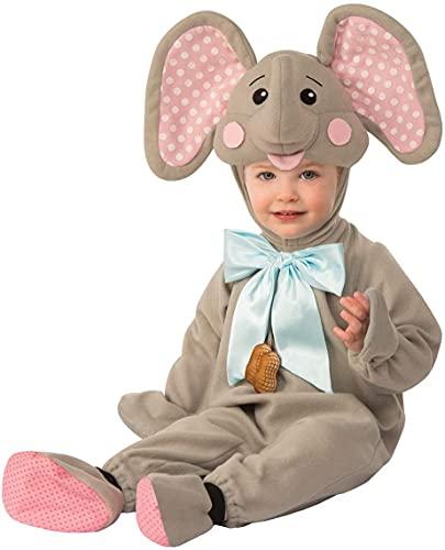 Rubies Rubie's - Disfraz de elefante para niños de 6 a 12 meses, multicolor, 300726 a 6 a 12 M