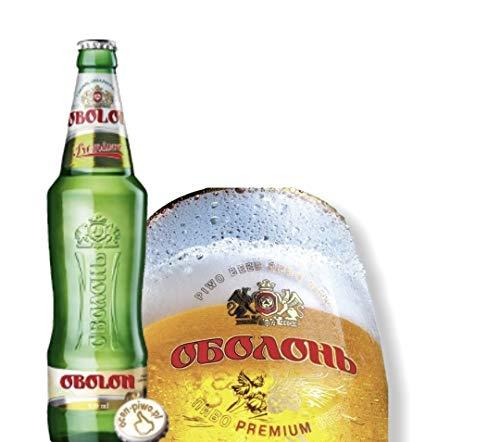 8 Flaschen Obolon Premium Lager, das beliebteste Bier der Ukraine Flasche 0,5l
