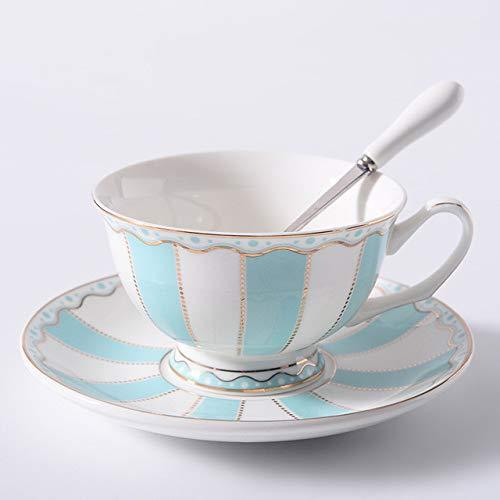 GFHTH Set di Piattini per Tazza da caffè Arcobaleno da 200 Ml Set di Piattini per Tazza da caffè con Tazza da tè E Tazza da tè in Ceramica Creativa di San Valentino