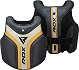 RDX Chest Guard for Boxing, Martial Arts Training Maya Hide Leather Body Protector for Muay Thai, MMA, Sparring and Kickboxing, Rib Shield Armour for Fighting, Taekwondo and BJJ