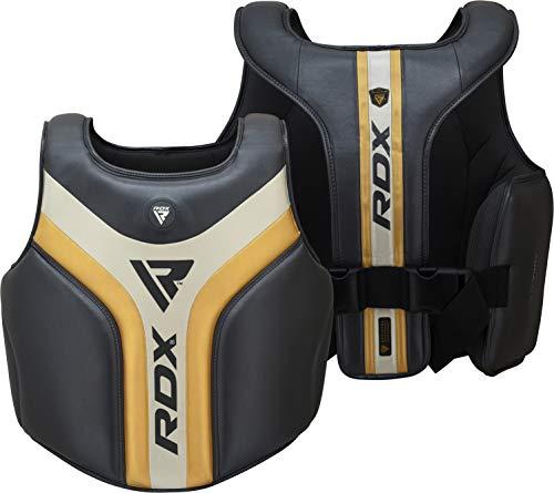 RDX Brustschutz für Boxen, Kampfsporttraining, Maya-Hide-Leder, Körperschutz für Muay Thai, MMA, Sparring und Kickboxen, Rib Shield Rüstung für Kampfsport, Taekwondo und BJJ