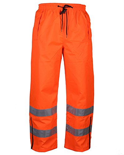 Safety Depot Orange Reflective Class E Safety Draw String Pants Water Resistant High Visibility and Light Weight 738c-3 (Medium)