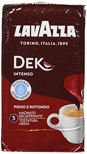 Lavazza Caffè Macinato Decaffeinato Dek Intenso - 10 confezioni da 250 grammi [2.5 Kg]