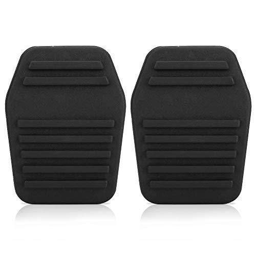 Un par de almohadillas del pedal del embrague del coche, cubierta del pedal del embrague de goma automática