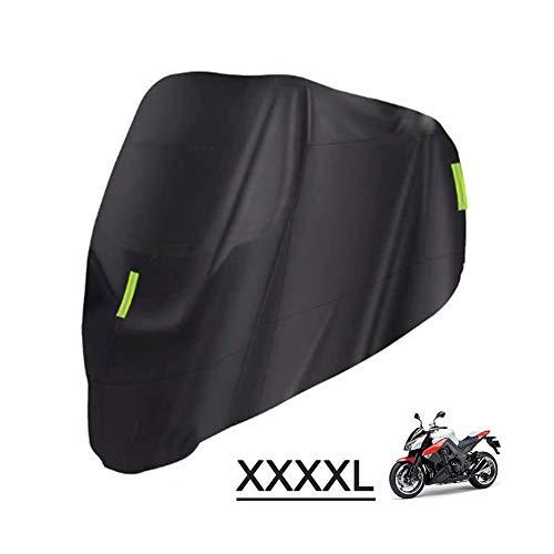KKmoon Funda para Moto Cubierta de Motocicleta Impermeable 210D Tela Oxford con Banda Reflectante Protectora de UV,Antipolvo XXXXL 295 x 110 x 145cm