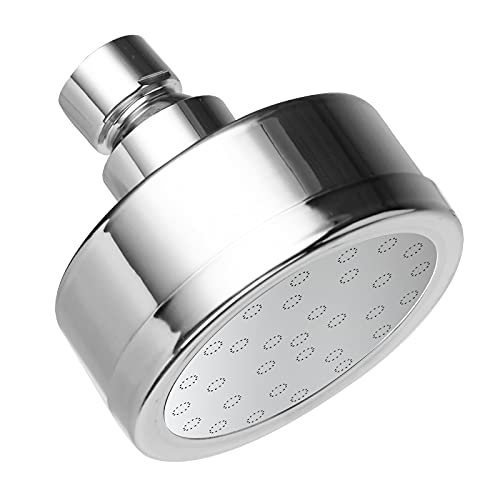 KINSE 3.0 GPM High Pressure Shower Head, Full 304 Stainless Steel Shell, Fixed Adjustable Angles Wall Mounted Luxury Washable Rainfall Showerheads(Included 2 color water outlets)