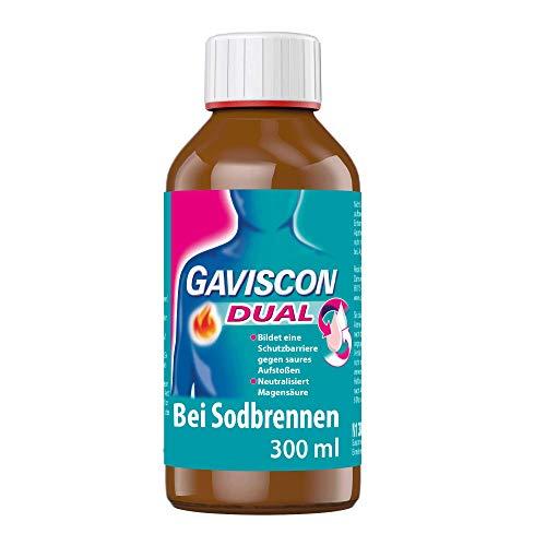 GAVISCON Dual 500 mg / 213 mg / 325 mg Suspension – Bei Sodbrennen und Magendruck – 300 ml Flasche