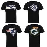 New Era New England Patriots T Shirt Shadow Print Tee Black - XL