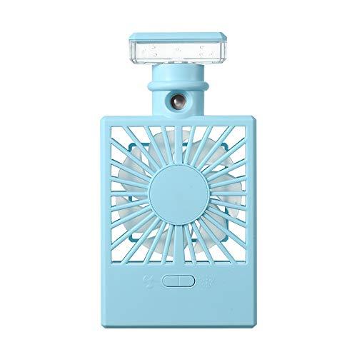 Milkvetch Ventilador de Niebla de PulverizacióN PortáTil Ventilador EléCtrico de Mano Recargable por USB Humidificador de Aire Acondicionado de RefrigeracióN para el Hogar, Azul