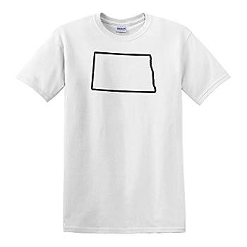 fagraphix Men s North Dakota Outline T-Shirt XXX-Large White