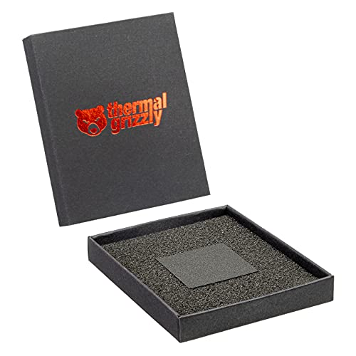 Thermal Grizzly - Carbon Thermal Pad Carbonaut - Nicht klebend, flexibel und anpassungsfähig für wiederholten Gebrauch mit sehr hoher Wärmeleitfähigkeit. Leitfähig! (32 × 32 × 0,2 mm)