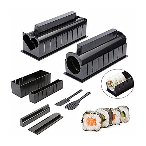 XUXUN 10 unids/Set DIY Sushi Making Kit Roll Sushi Maker Rice Roll Molde Cocina Sushi Herramientas Japonés Sushi Herramientas de Cocina Herramientas de Cocina (Color : B)