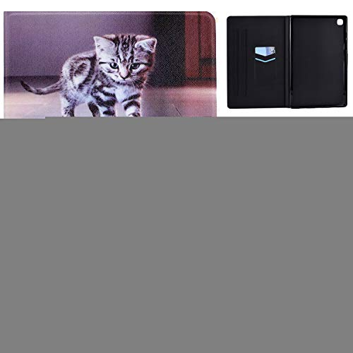 Tedtik Case for Samsung Galaxy Tab A7 10.4 Inch 2020 Ultra Thin with Stand Function Slim PU Leather Smart Case Fits Samsung Galaxy Tab A7 SM-T500/SM-T505 10.4 Inch 2020 -Cattiger