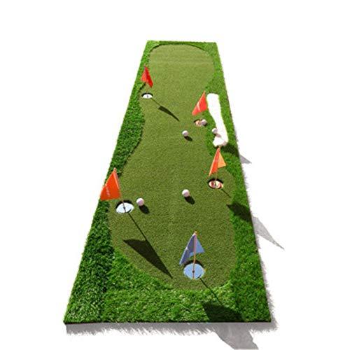 Alfombrillas de golf Golf Putting Green / Mat Professional Profess Pretty Mat Alineación de golf Espejo de la alineación Matera verde Putter desafiante largo para interiores / al aire libre Poniendo v