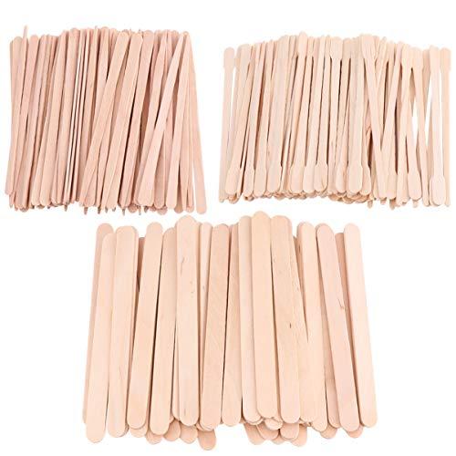 Lurrose 600 Stück Wachsapplikatorstifte Holzwachs Bastelstäbchen Spatel Zur Haarentfernung Augenbrauen Körperhaut