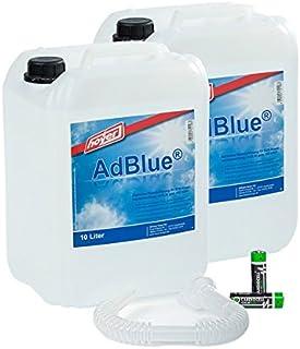 AdBlue Hoyer Juego de 2 bidones de 10 L con Boquilla para Audi, Volkswagen,