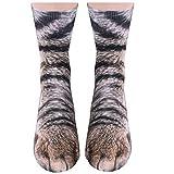 Gedston Unisex Animal Paw Socks-Crazy 3D Animal Socks Cat Dog Tiger Paw Crew Socks Funny Gift for Men Women and Adults, US5-12