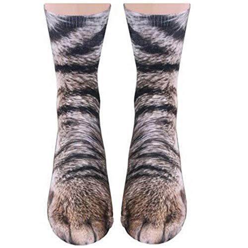 Animal Paws Socks-Novelty Animal Socks Crazy 3D Cat Dog Tiger Paw Crew Socks Funny Gift for Women Men Kids