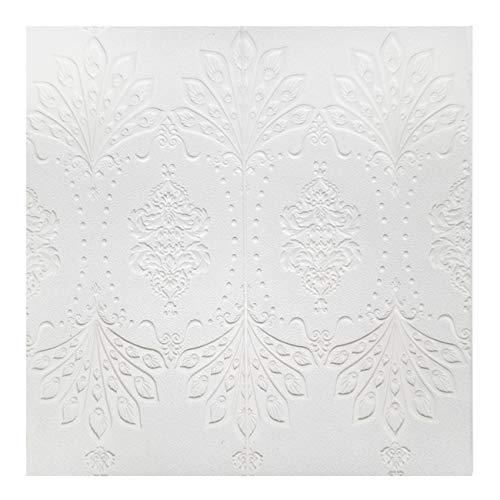 3D-Blumen-Decken-Wandaufkleber, selbstklebend, PE-Tapete, zum Abziehen und Aufkleben, Wandpaneele für TV-Wände, Sofa-Hintergrund, Wanddekoration (26,37 m² Blumenstil 1)